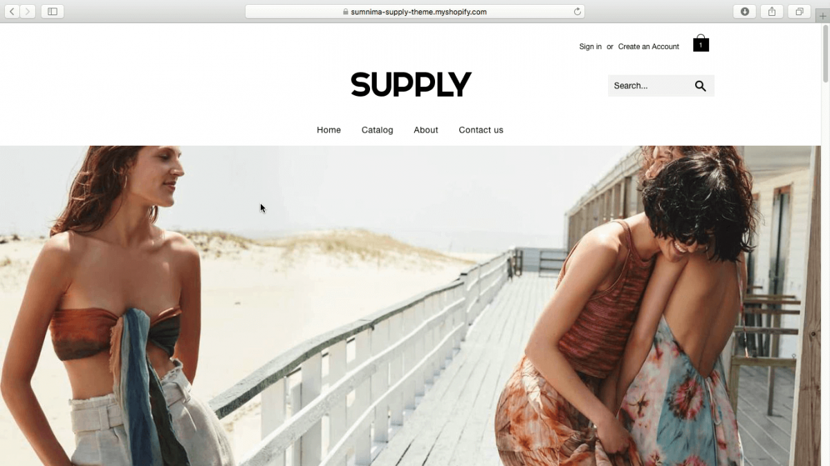 free shopify theme – supply shopify theme new design